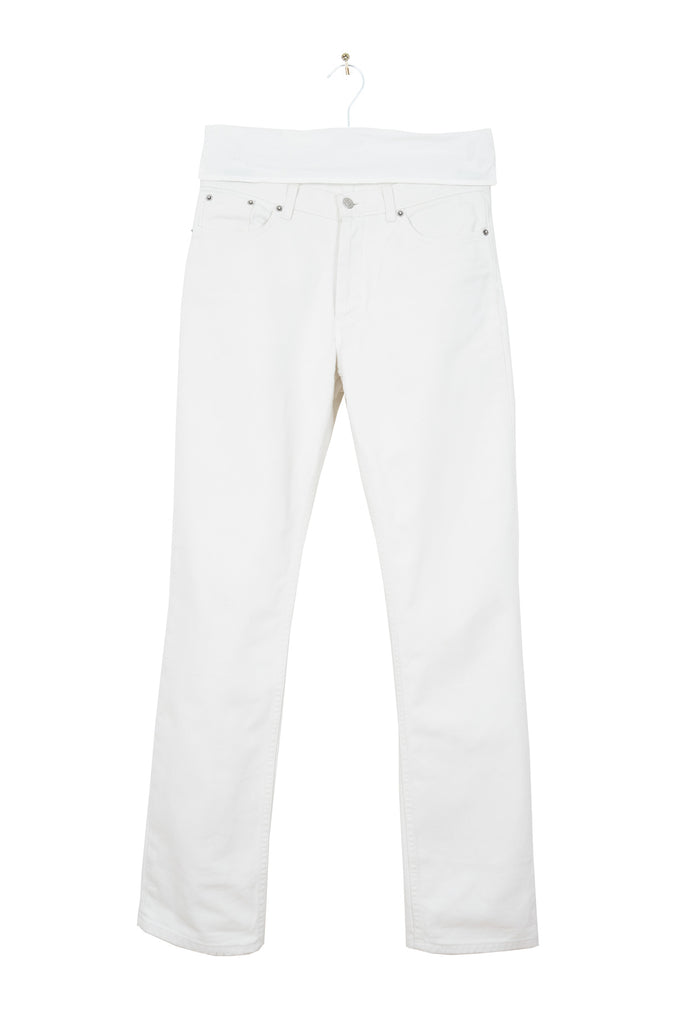2003 S/S STRAIGHT-CUT 5-POCKET JEANS IN WHITE DENIM