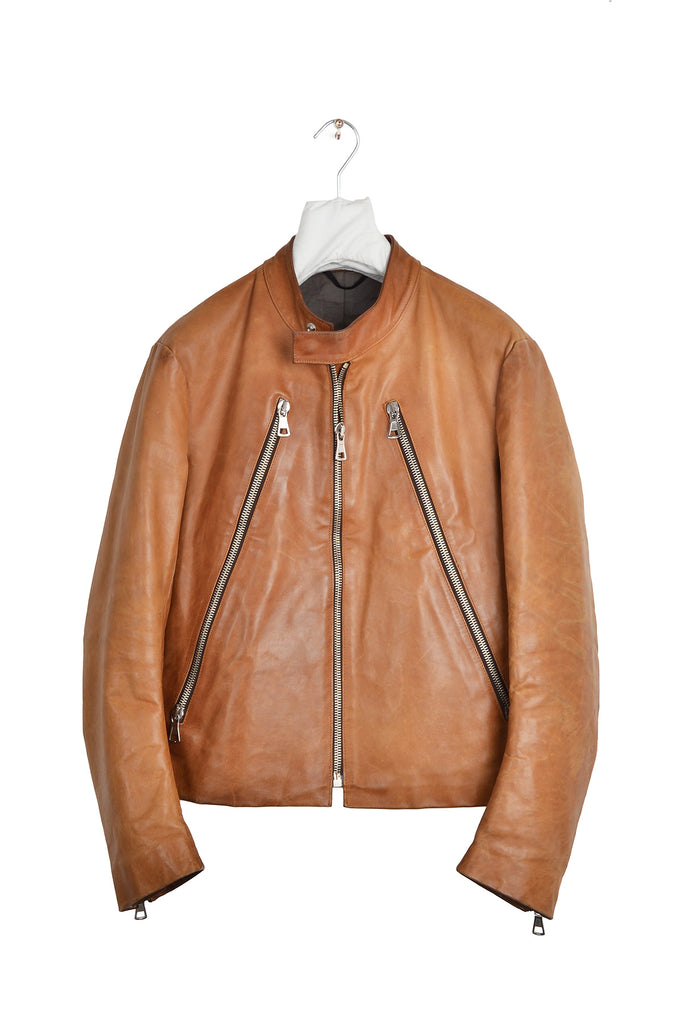 2001 S/S 5-ZIP BIKER LEATHER JACKET