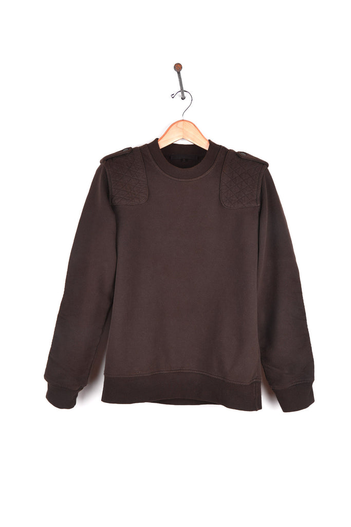 2005 A/W MOTO SWEATSHIRT WITH SHOULDER AND SLEEVE PATCHES