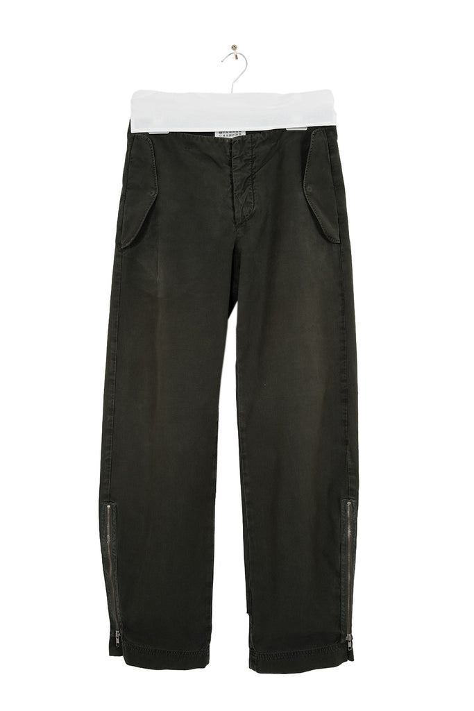 2003 S/S ANATOMICAL COTTON TROUSERS WITH SIDE ZIPS