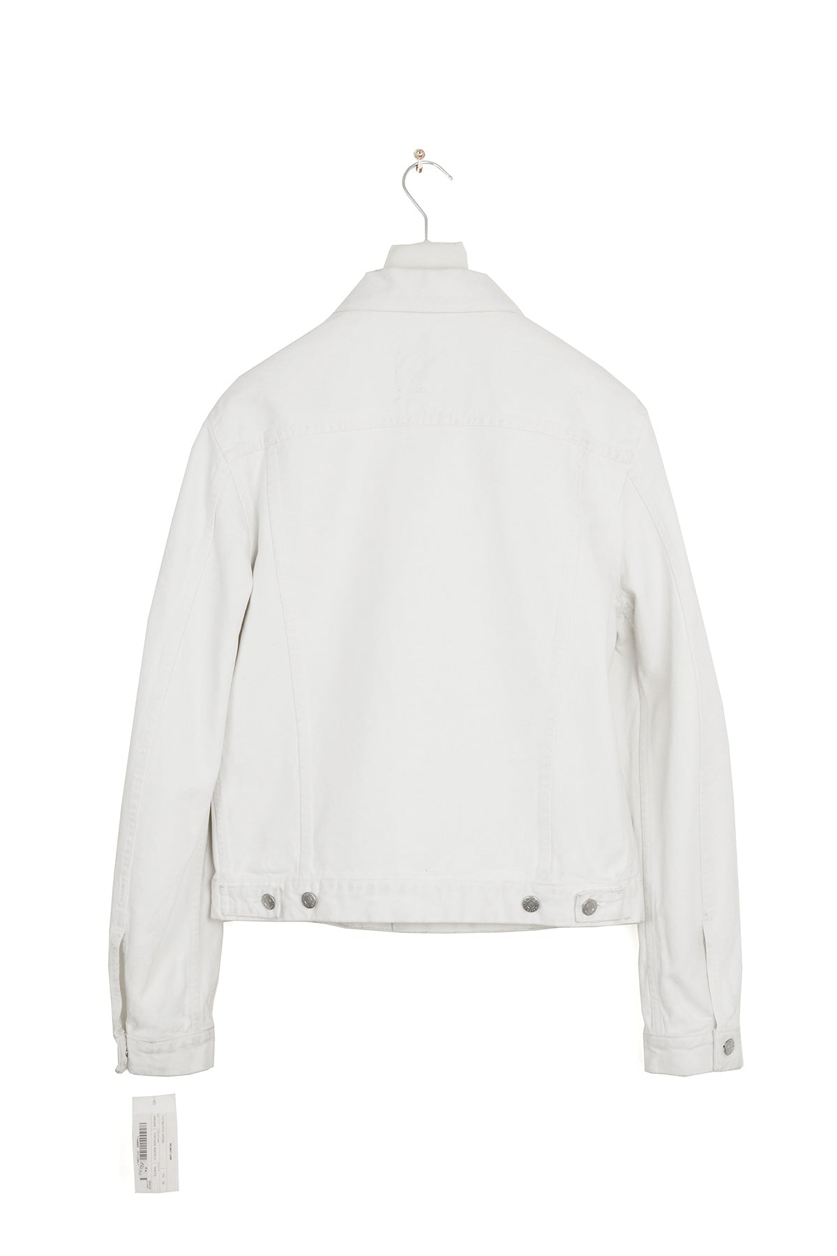 2002 S/S SLIM 2 POCKET JACKET IN WHITE DENIM