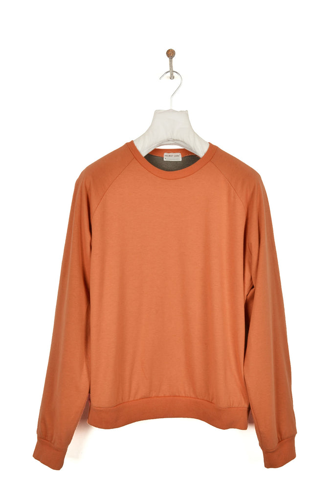 1999 A/W SAFETY ORANGE RAGLAN SWEATSHIRT WITH FUZZY LINING