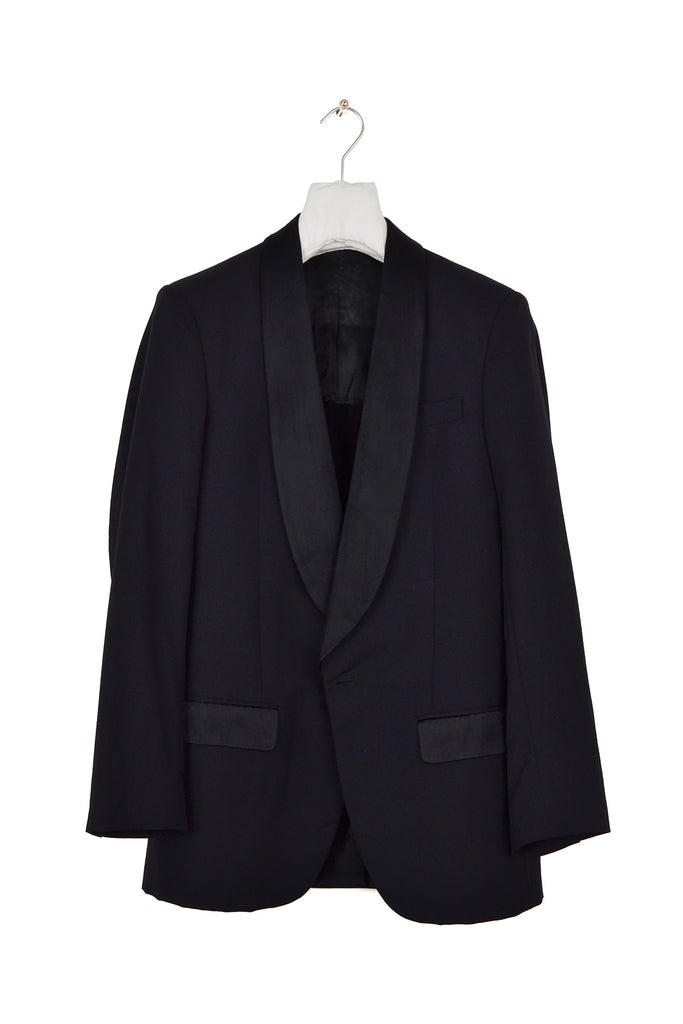 2005 A/W DARK BLUE WOOL AND MOHAIR EVENING JACKET