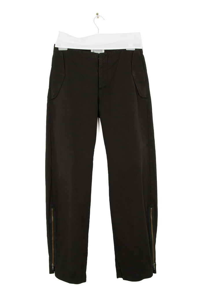 2003 S/S COATED COTTON TROUSERS WITH SIDE ZIPS
