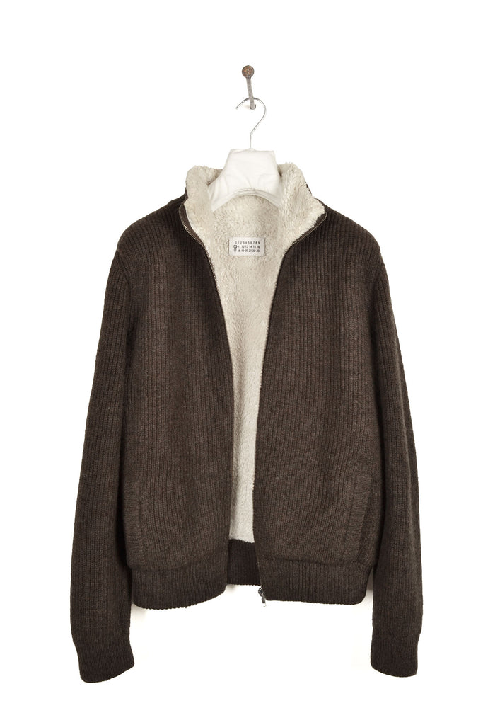 2004 A/W LINED CAMIONNEUR ZIPPED WOOL SWEATER WITH MRS ZIPPER