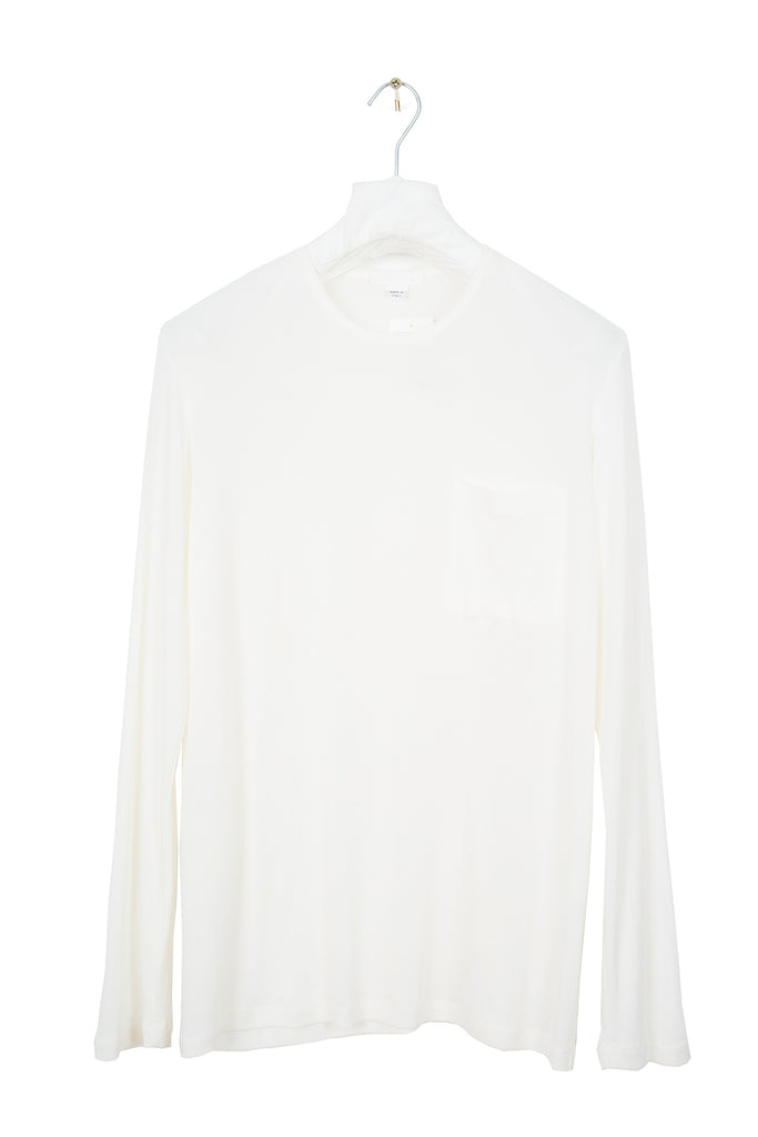 1998 S/S KNITTED LONG-SLEEVE TOP WITH CHEST POCKET IN SILK AND COTTON