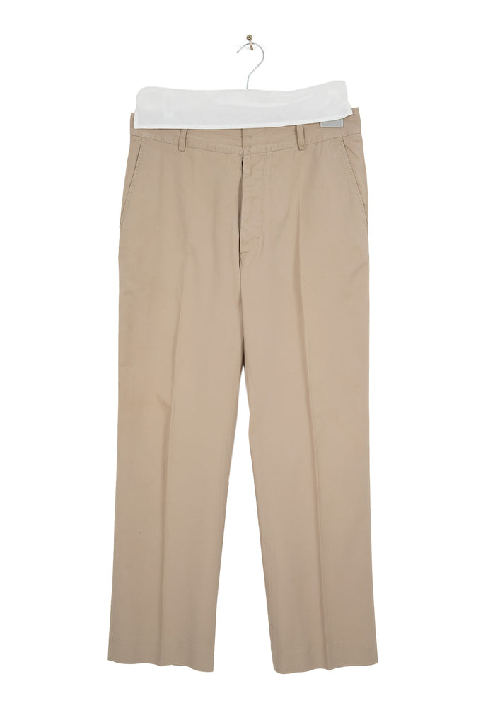 2003 S/S ANATOMICAL TWILL COTTON TROUSERS