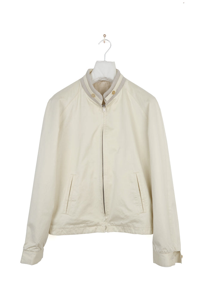 2007 S/S HARRINGTON JACKET WITH KNITTED COLLAR AND FLAT SLEEVES