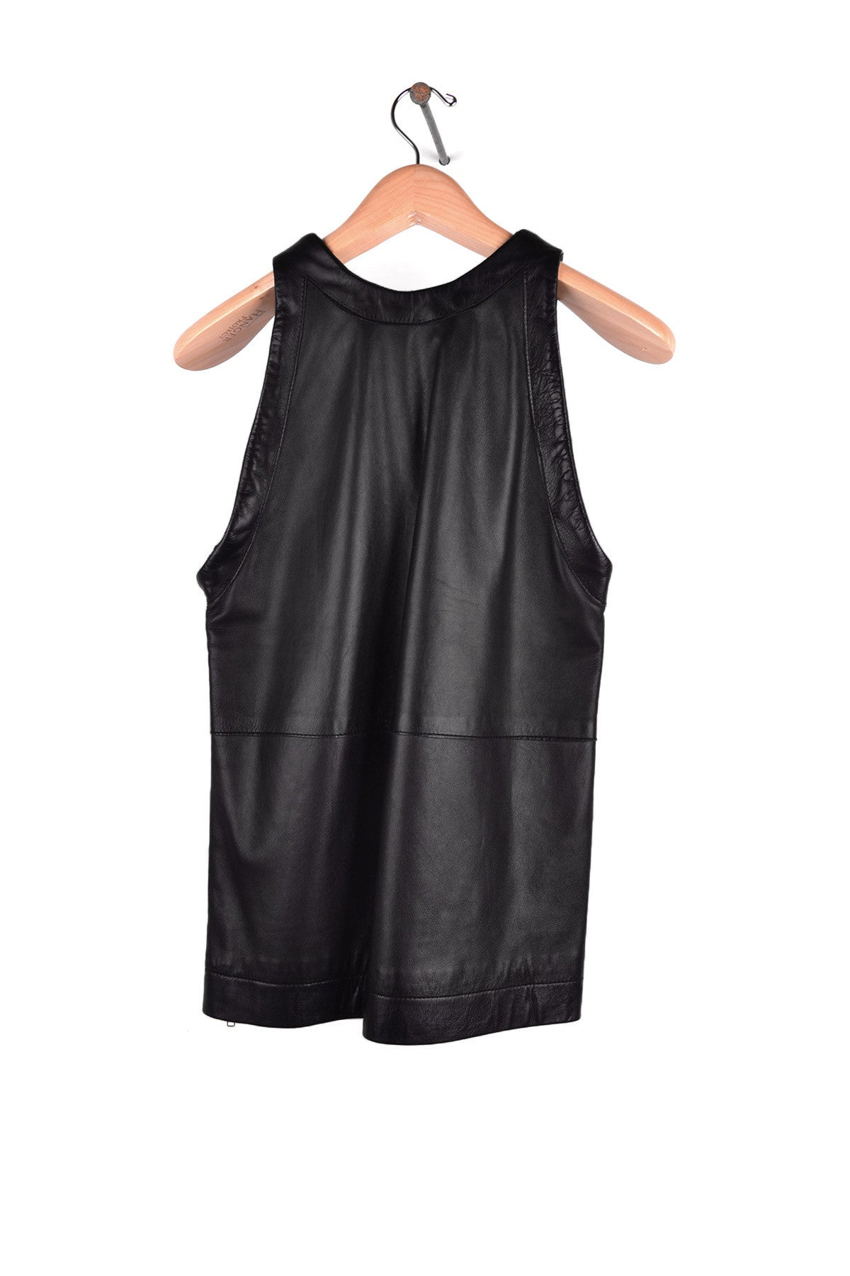 1999 A/W LEATHER TANK-TOP WITH SIDE ZIP