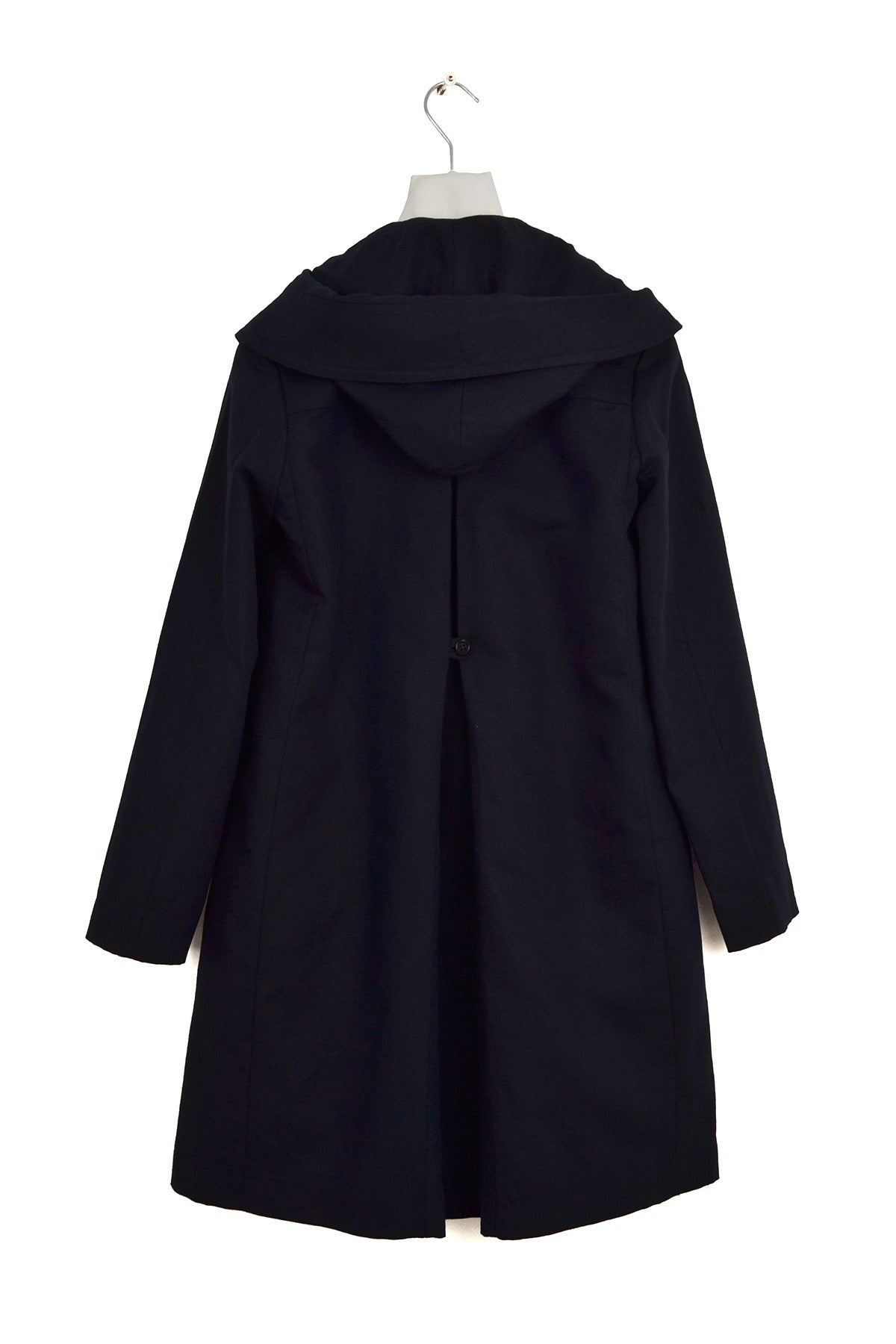2012 S/S COTTON AND LINEN CANVAS HOODED COAT