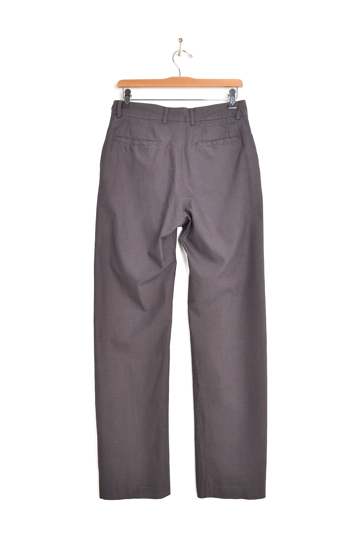 2002 S/S TROUSERS IN HOUNDS-TOOTH WASHED COTTON