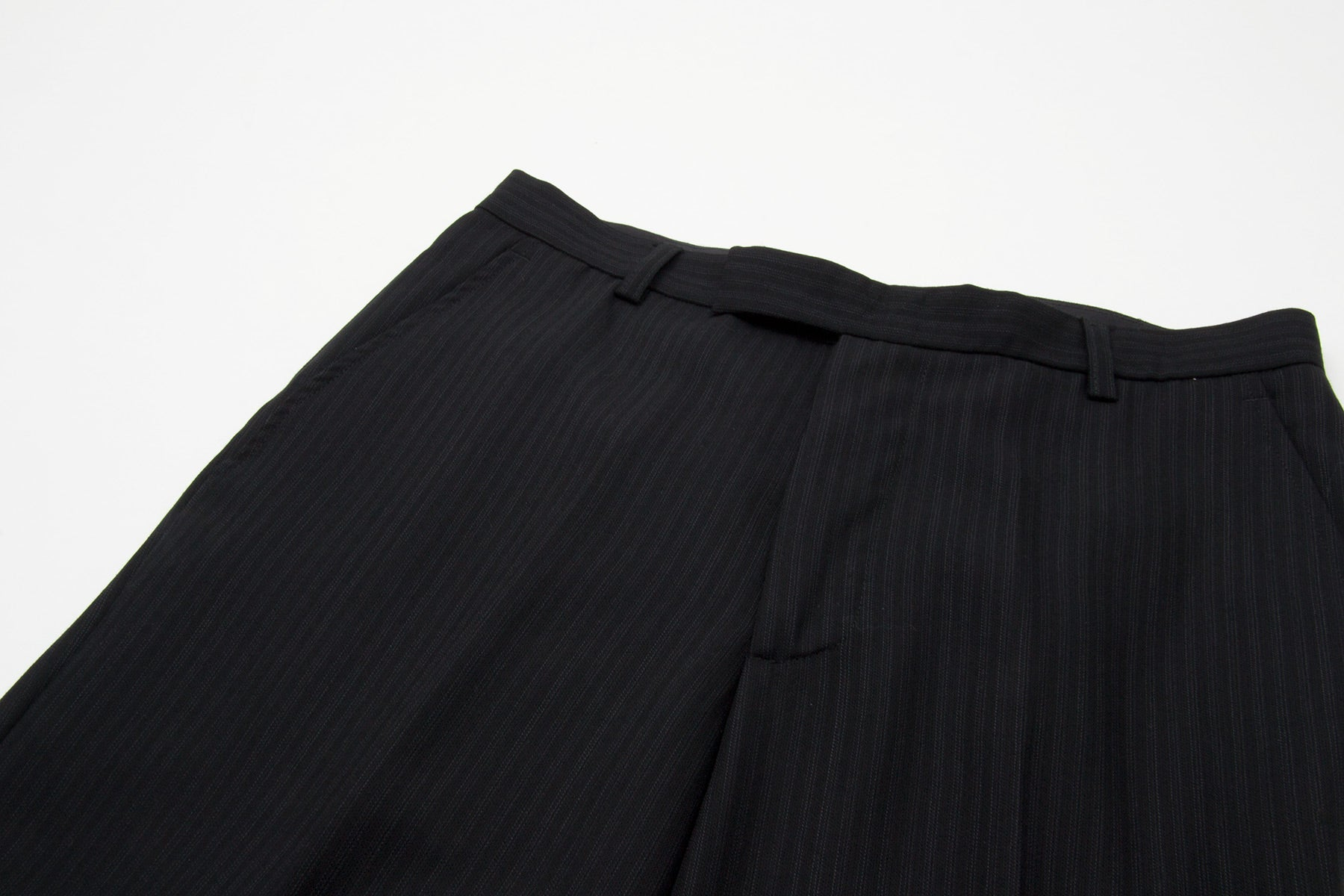 1994 A/W ARTISANAL RE-WORKED PINSTRIPE WOOL TROUSERS