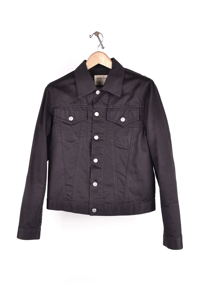 2002 S/S BLACK LIGHTWEIGHT DENIM 2-POCKET JACKET