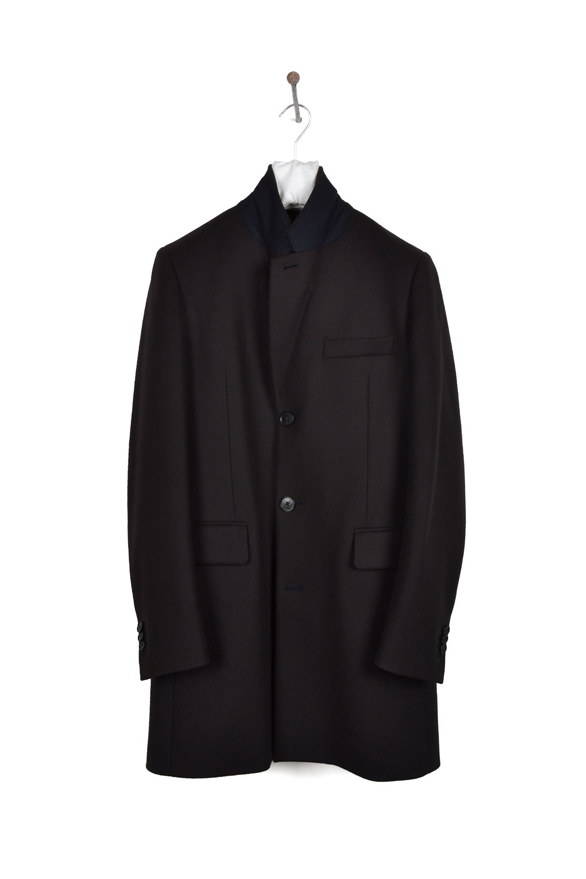 2014 A/W OVERSIZED CHESTER 3-BUTTON COAT IN MARINE WOOL