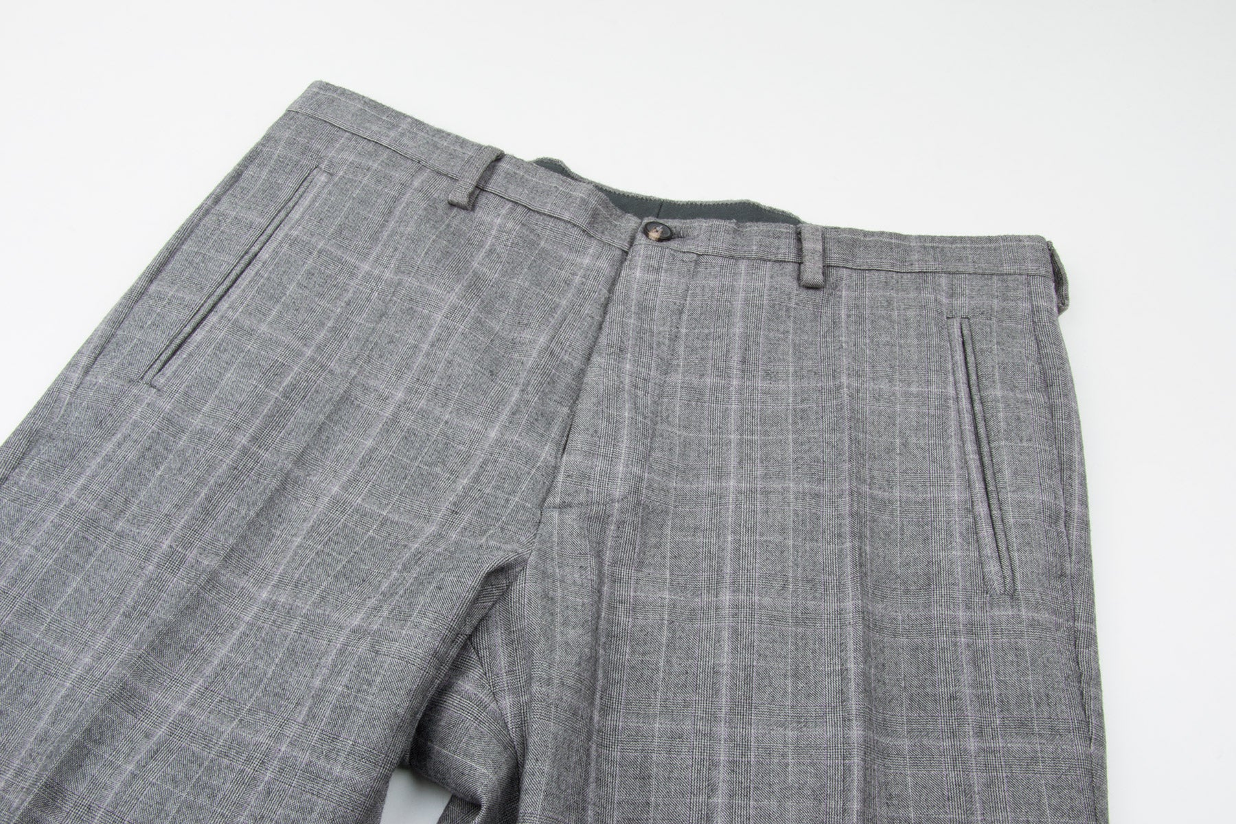 2007 A/W GINGHAM CHECK SLIM TROUSERS IN WOOL AND CASHMERE