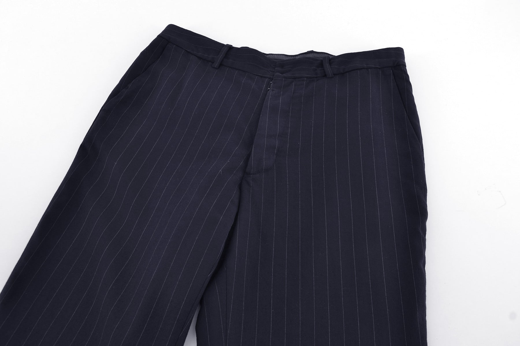 1999 A/W ANATOMICAL PANTS IN A PINSTRIPE HEAVY WOOL