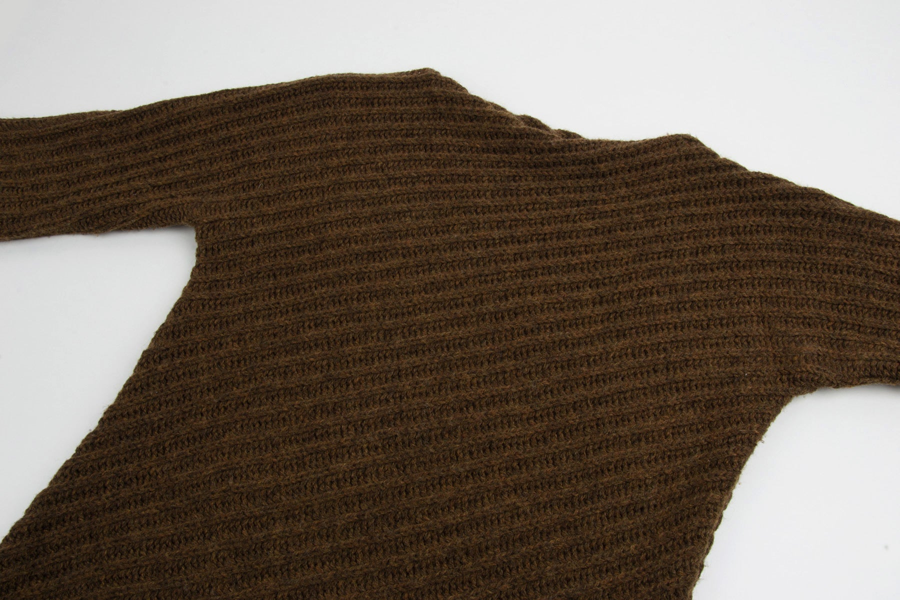 1995 A/W DIAGONAL ASSYMETRIC RIBBED SWEATER BY MISS DEANNA
