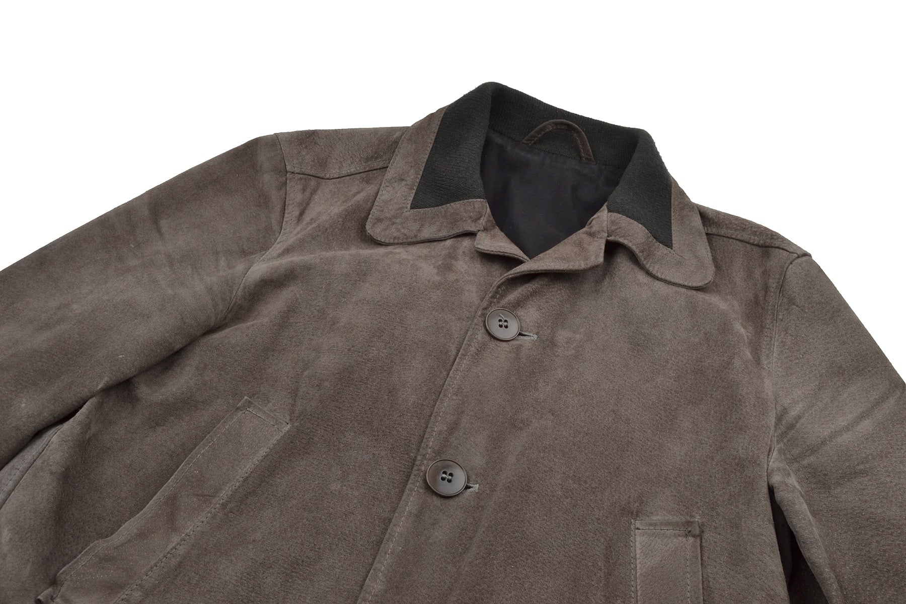 2003 A/W LEATHER BOMBER JACKET WITH COLLAR DETAIL
