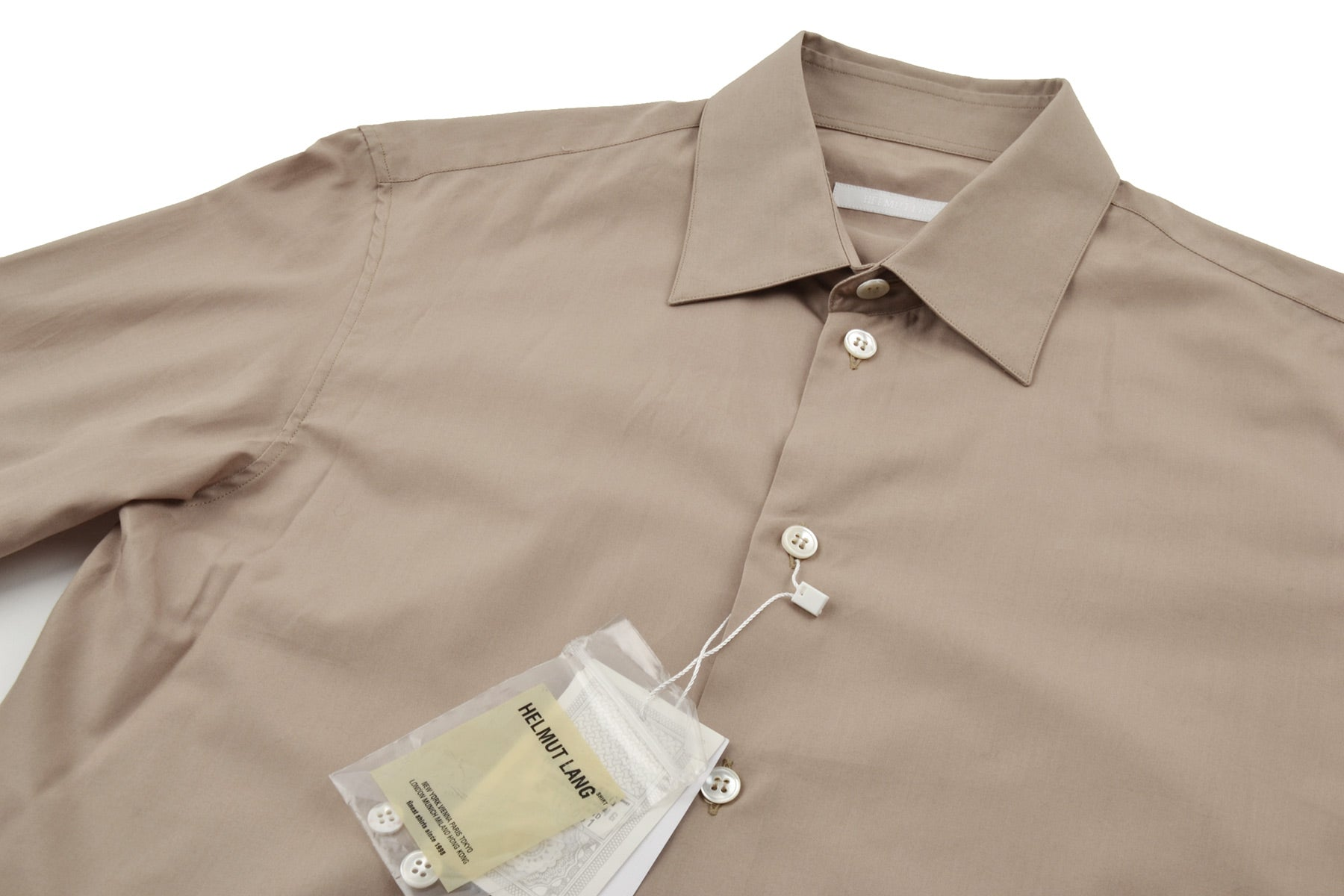 2001 S/S CLASSIC LONG-SLEEVE CRISP COTTON SHIRT
