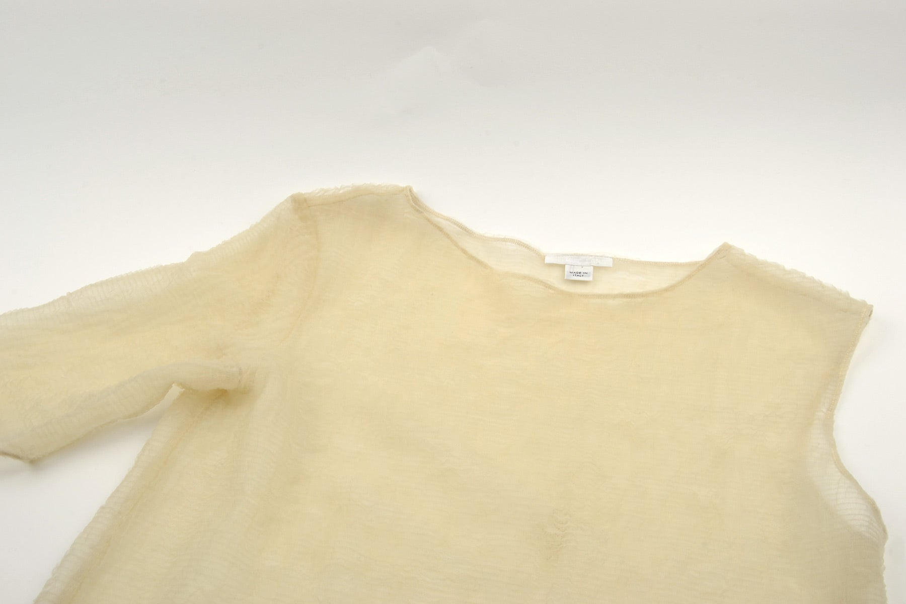 1998 A/W ASSYMETRICAL SEMI TRANSPARENT ONE SLEEVE TOP