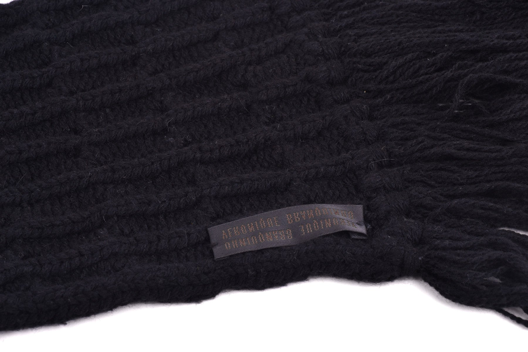 2006 A/W COMPLICE CABLE KNIT HEAVY WOOL SCARF