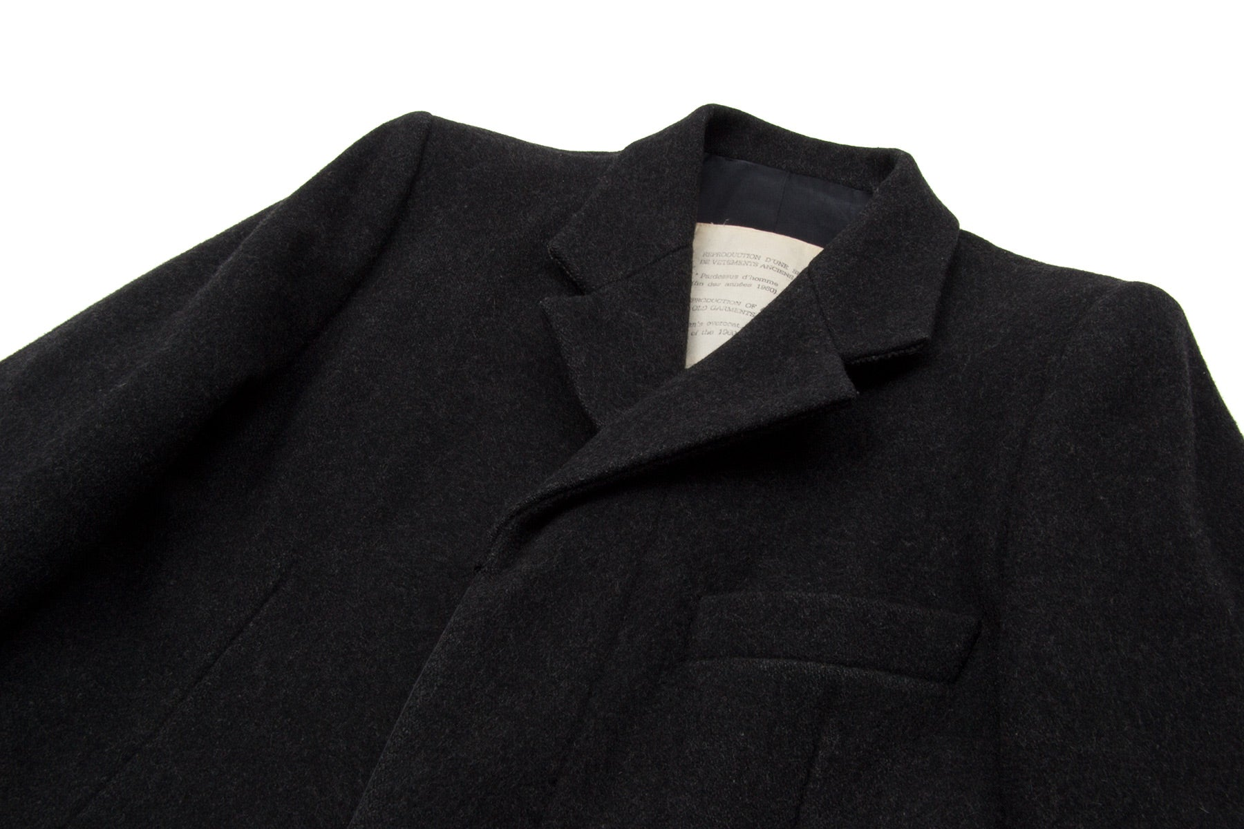 "1994 A/W REPRODUCTION OF A SERIES OF OLD GARMENTS ""MAN'S OVERCOAT"""