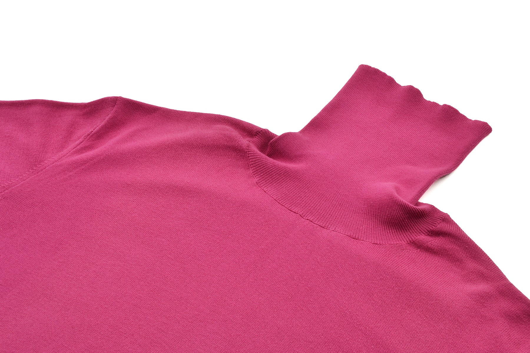 2000 S/S FUCHSIA FINEST COTTON HIGHNECK SWEATER