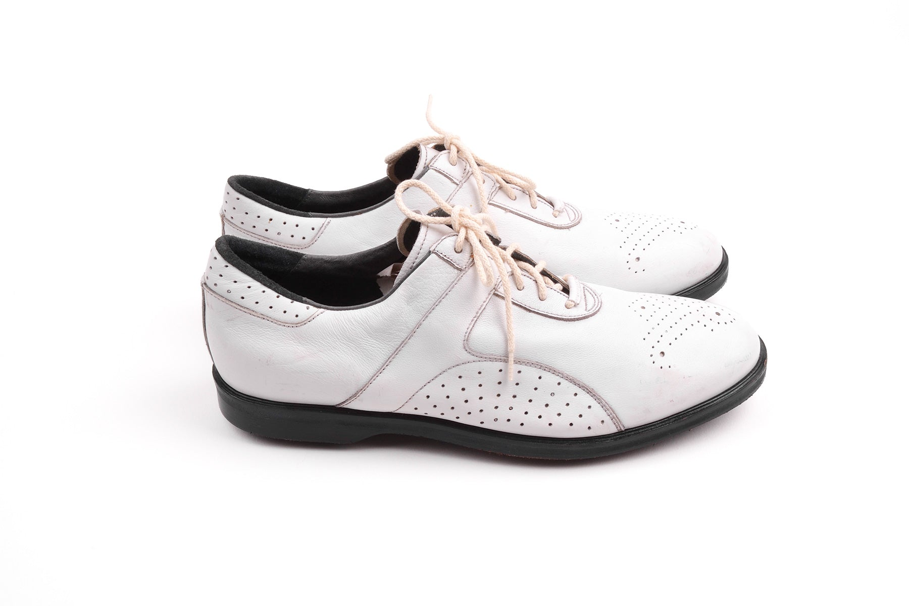 2005 S/S WHITE GOLFING SHOES REPLICA 14 LINE