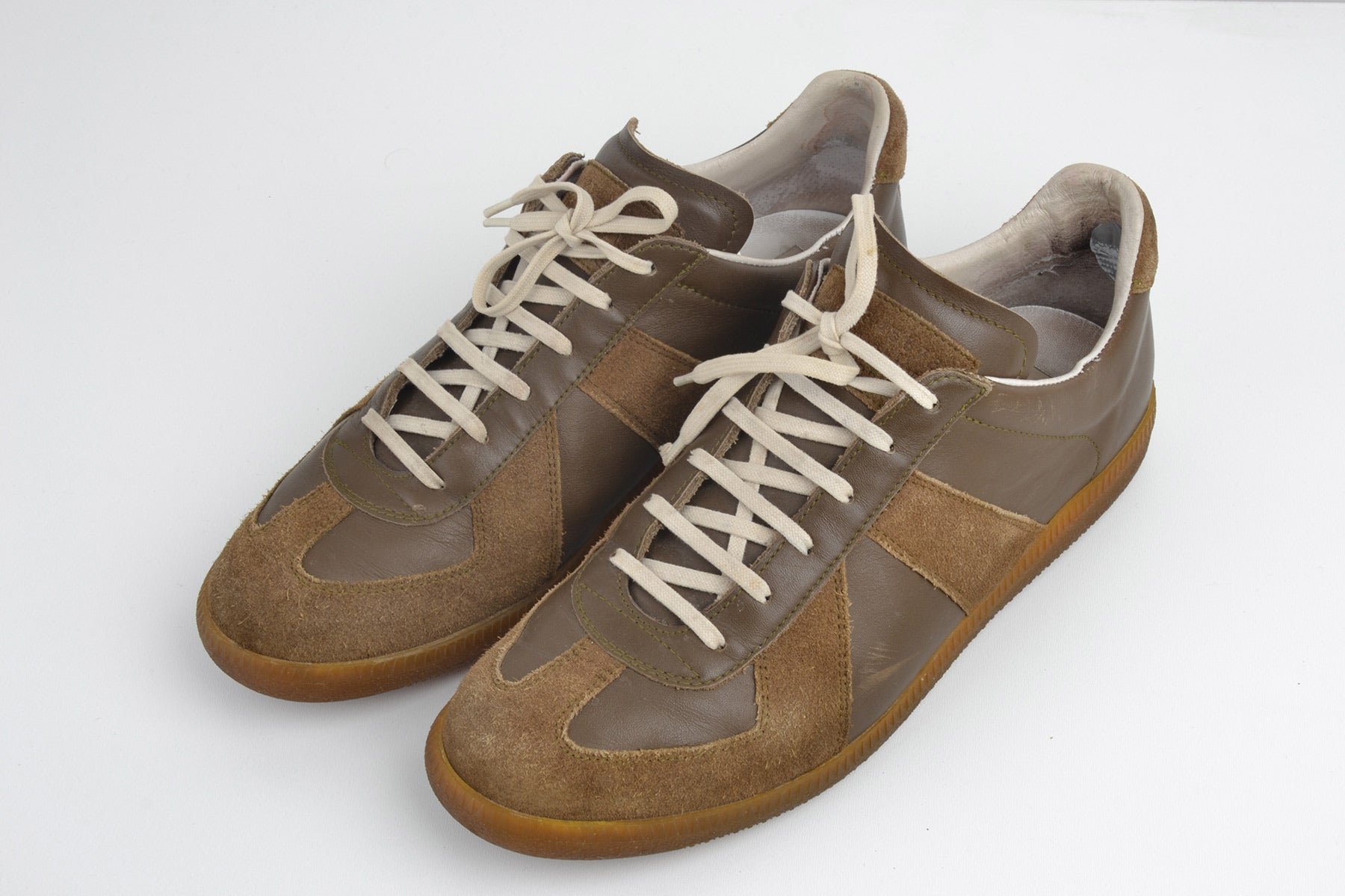 2007 A/W TAN G.A.T. SNEAKERS IN NAPPA AND SUEDE LEATHER