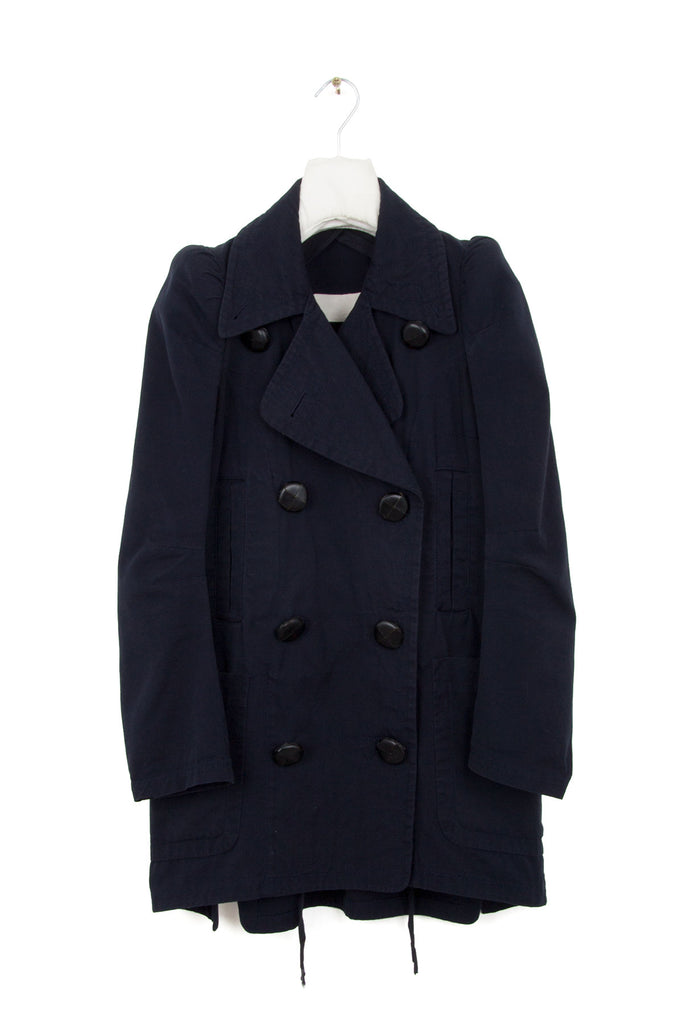 1990 S/S CIGARETTE SHOULDER PEA COAT IN A PIQUE COTTON
