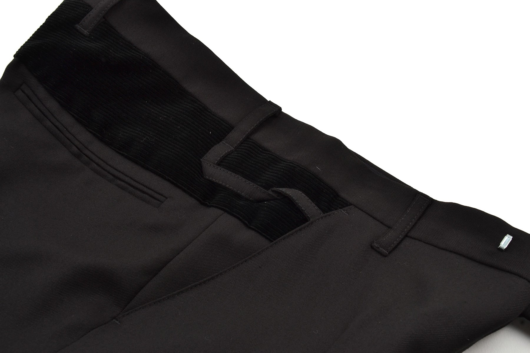 2007 A/W TWILL WOOL TROUSERS WITH CORDUROY INSERTS