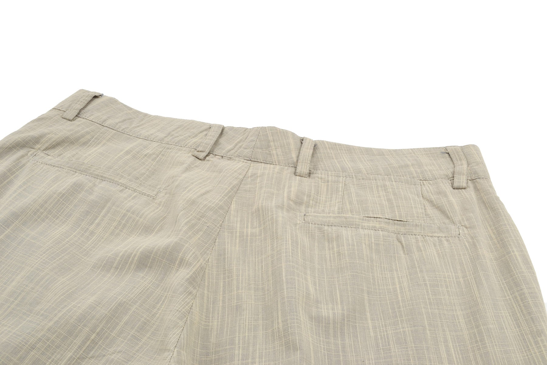 2003 S/S BEIGE ANATOMICAL COTTON TROUSERS