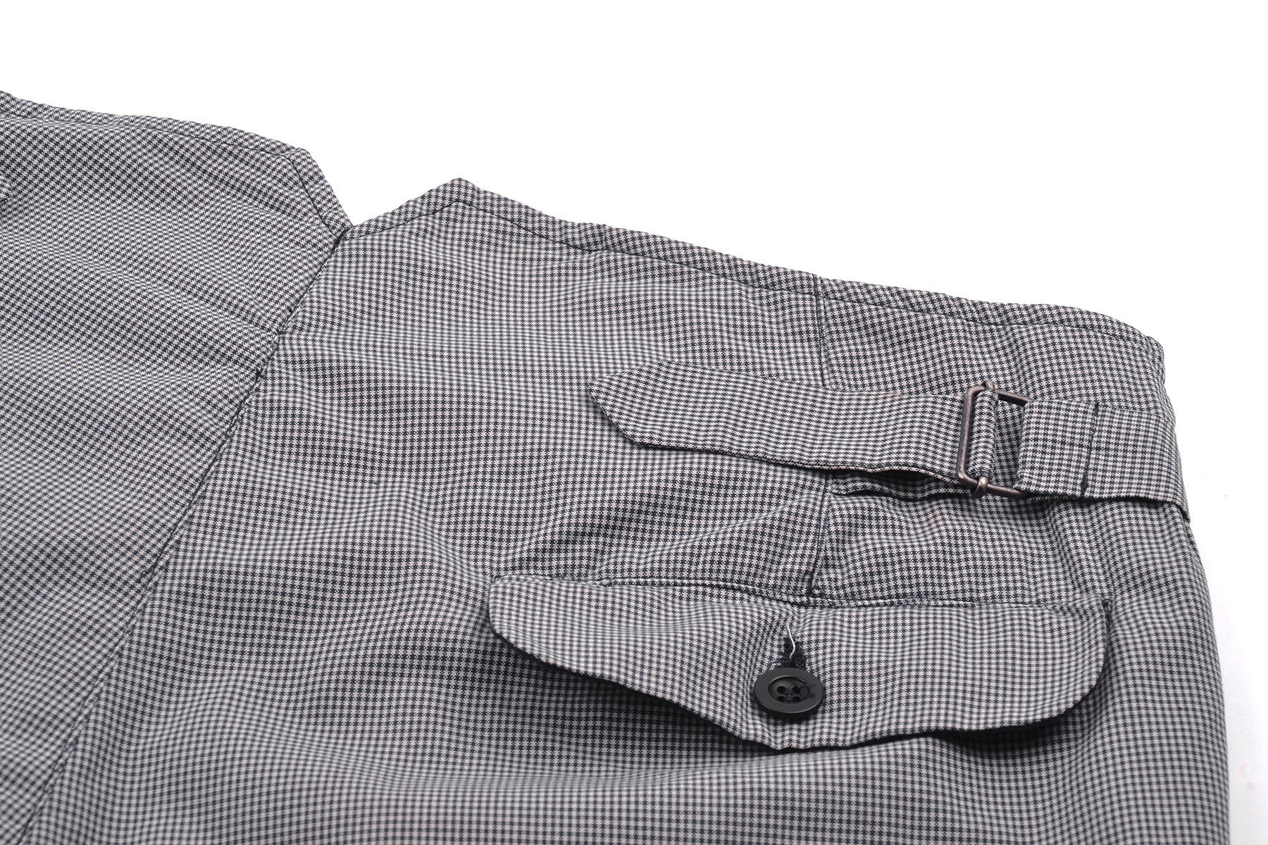 2004 S/S GINGHAM CHECK ANATOMICAL TROUSERS WITH WAIST STRAPS