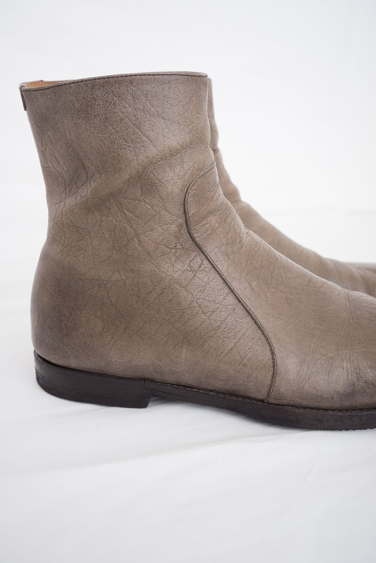 2008 A/W SIDE-ZIP BOOTS IN PERFORATED LEATHER