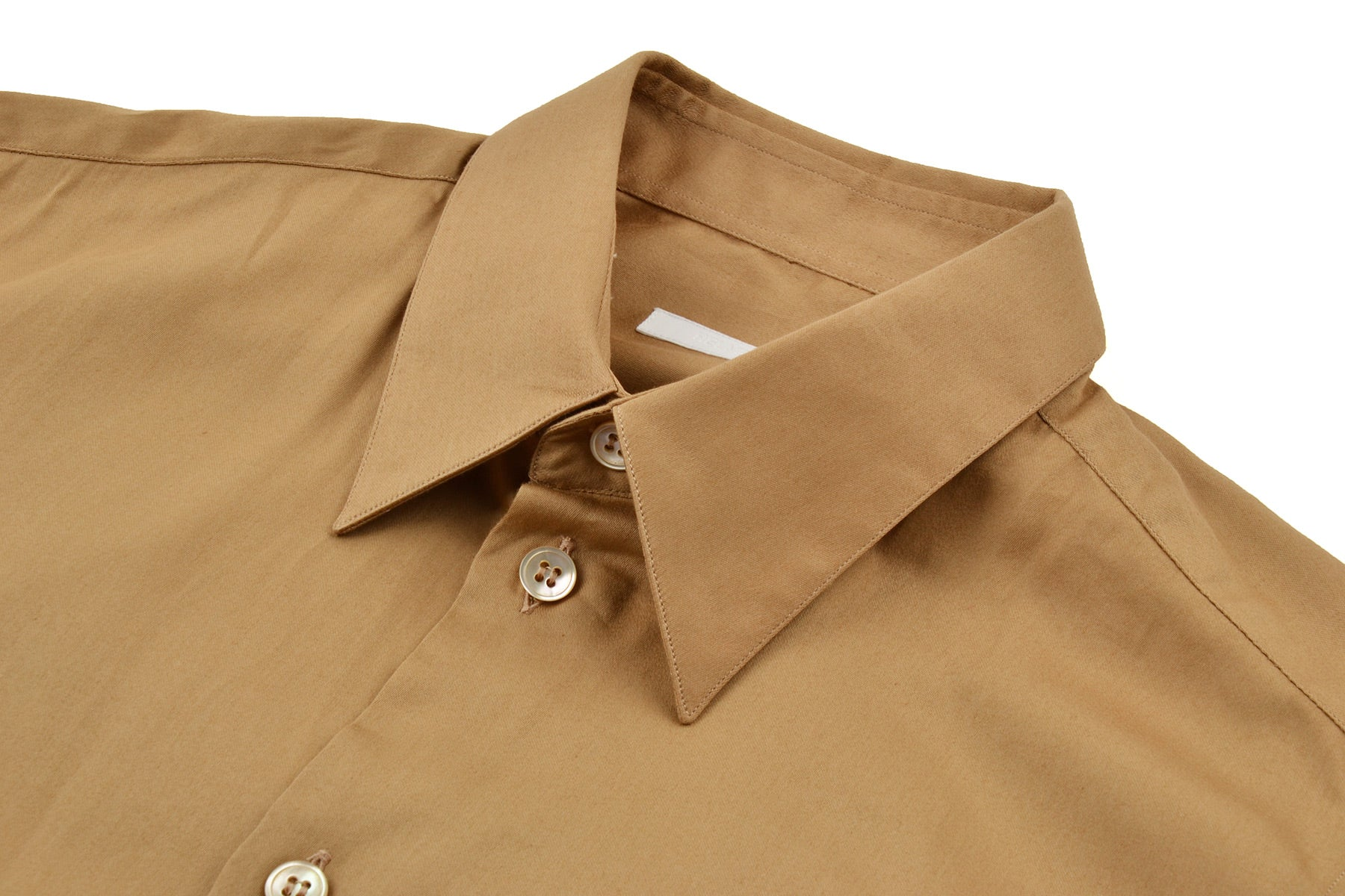 2001 S/S CLASSIC LONG-SLEEVE SATIN COTTON SHIRT WITH CHEST POCKET