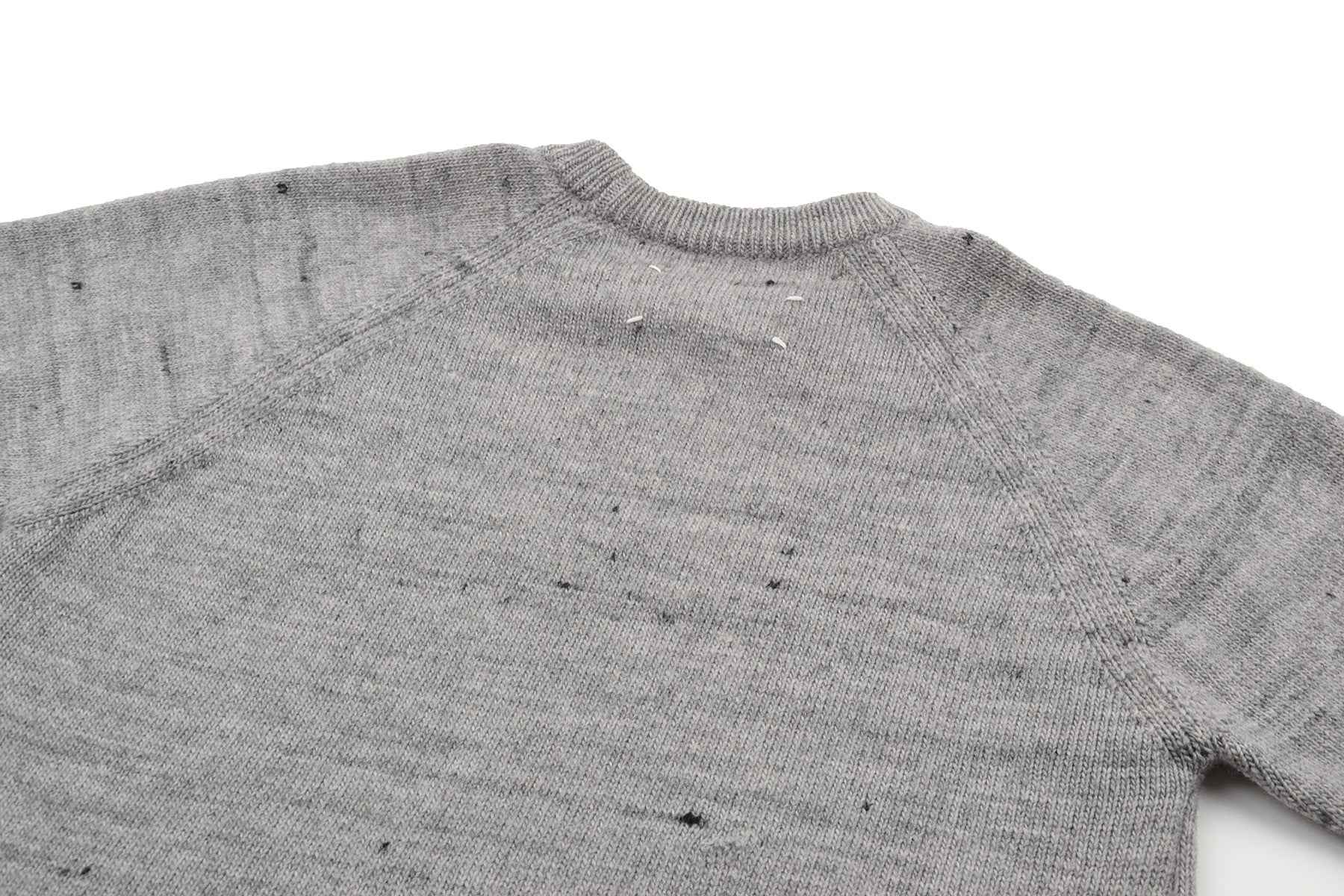 "2002 A/W ""POINTS DE RIS"" RAGLAN WOOL SWEATER BY MISS DEANNA"
