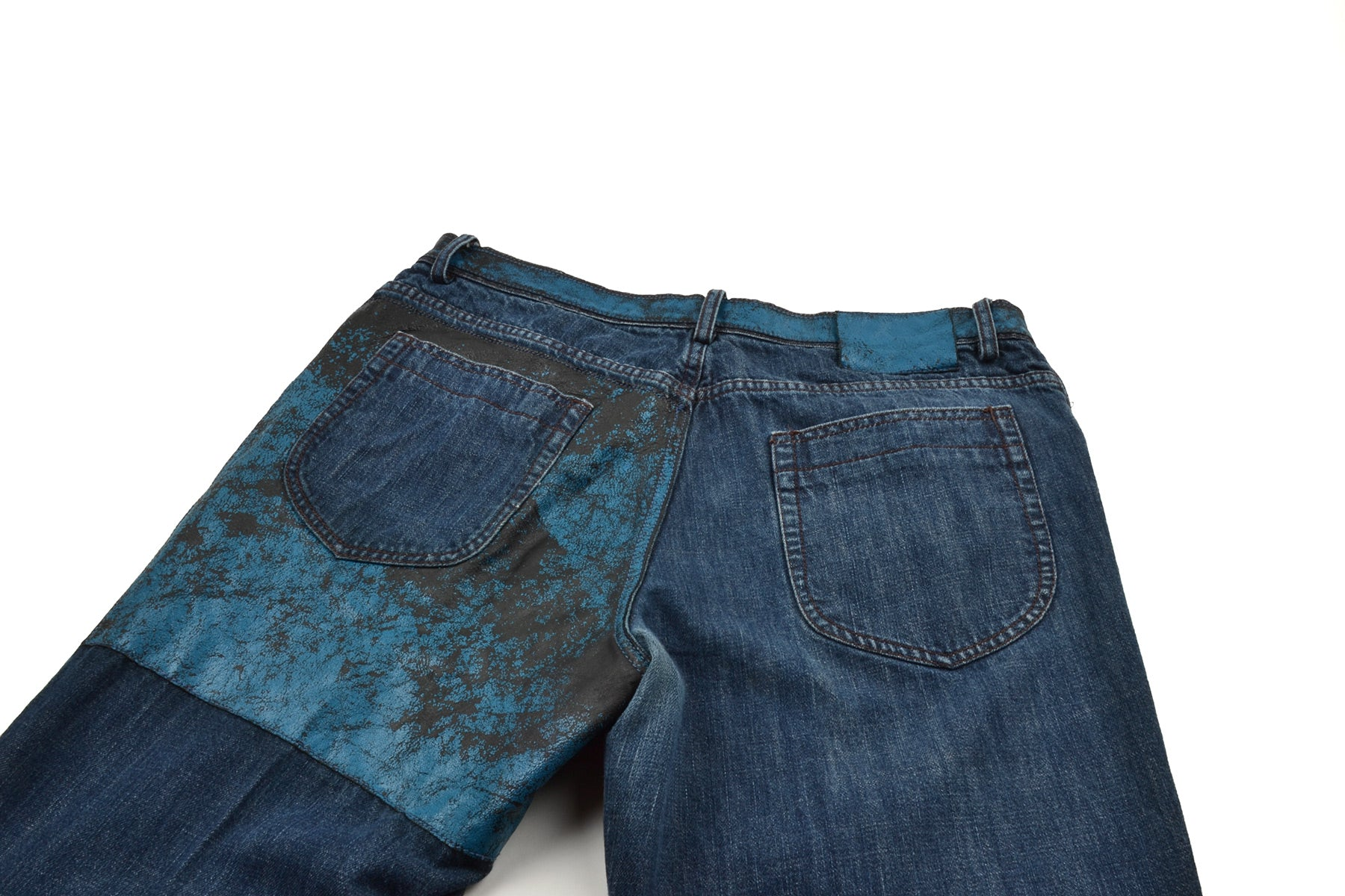 2006 S/S DENIM PANTS WITH LEATHER INSERTS
