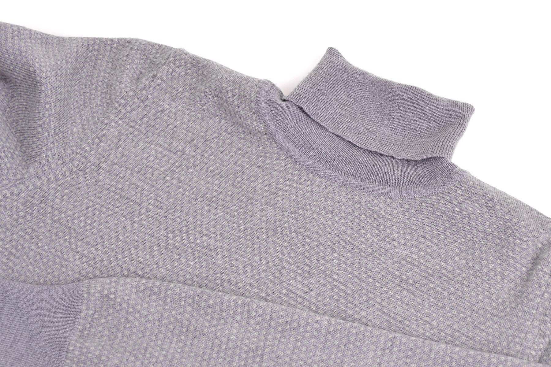 2008 A/W MERINO WOOL TWO-TONE TURTLENECK