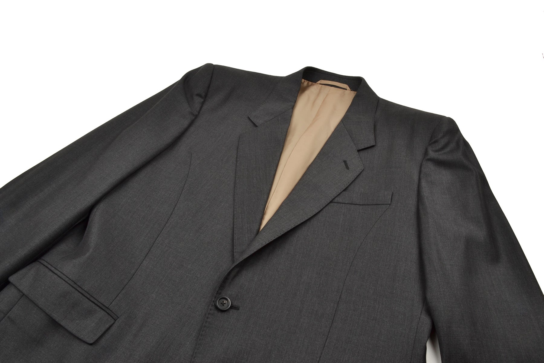2008 A/W SARTORIAL CAPSULE COLLECTION SUIT IN WOOL/SILK BLEND WITH SIGNATURE STITCHING