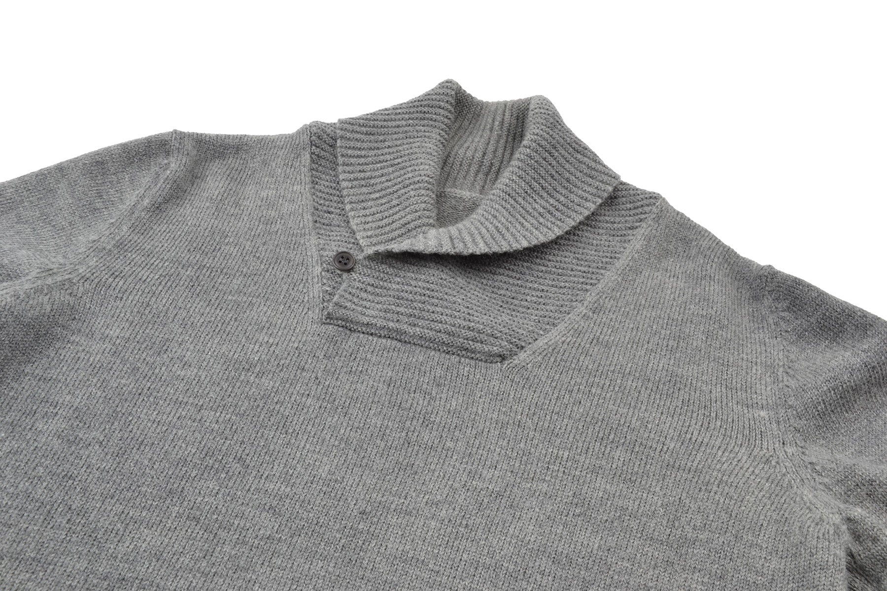 2004 A/W SHAWL COLLAR WOOL SWEATER IN MELANGE GREY