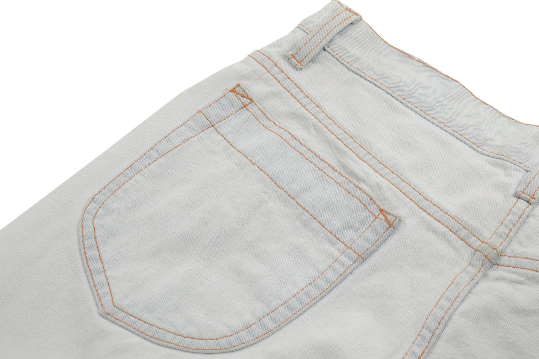 2003 S/S WHITE BLEACHED 5-POCKET DENIM TROUSERS