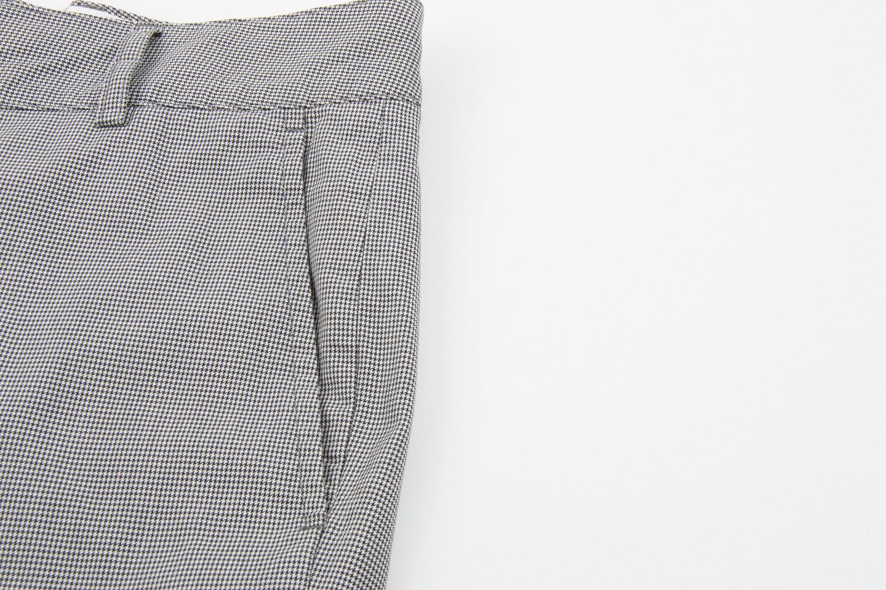 2002 S/S ANATOMICAL TROUSERS IN MICRO HOUNDS-TOOTH COTTON