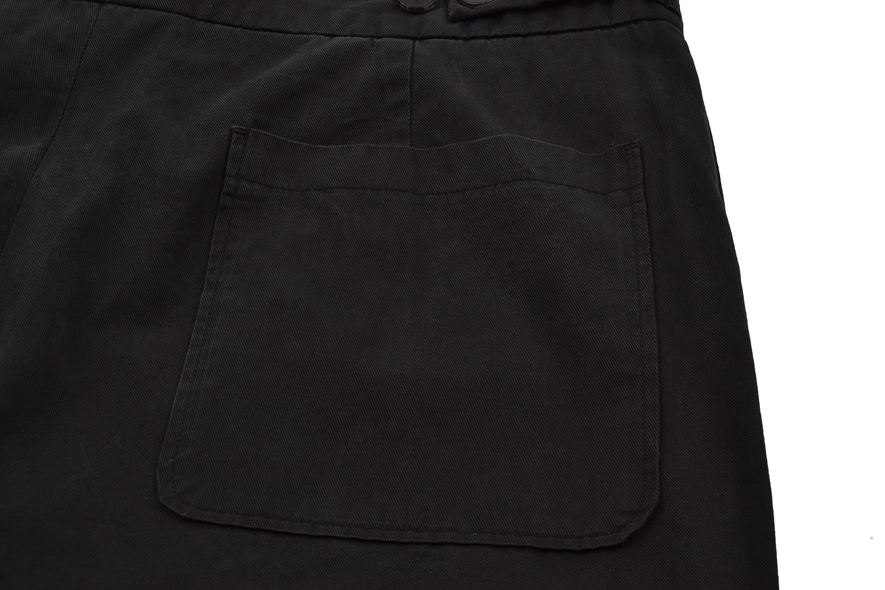 2006 S/S EVENING PANTS IN WASHED BLACK TWILL COTTON