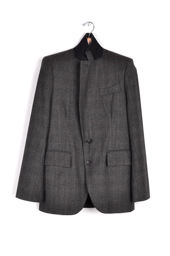 2008 A/W WOOL GLEN PLAID BLAZER