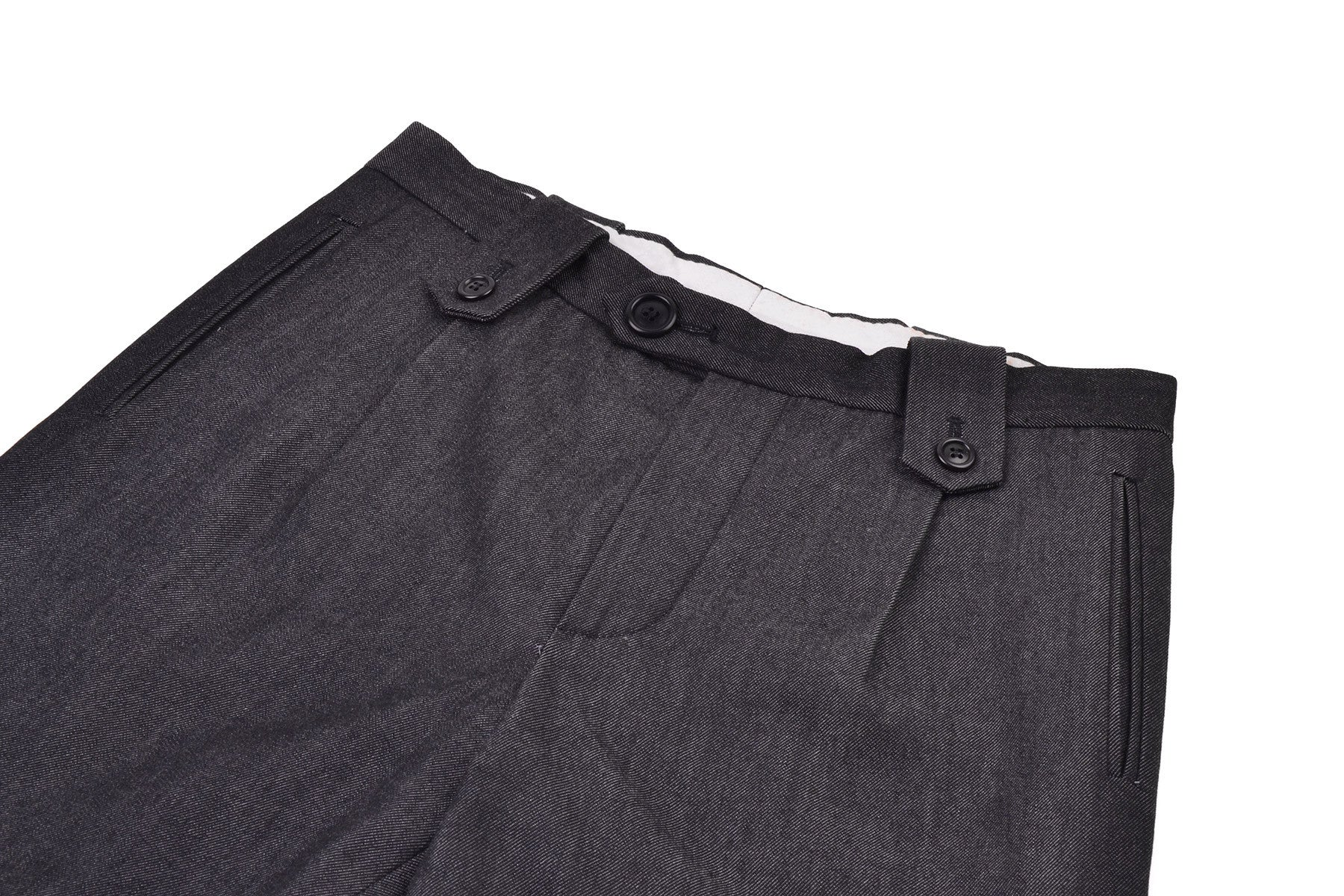 1999 A/W PLEATED TROUSERS WITH SIDE ZIPS
