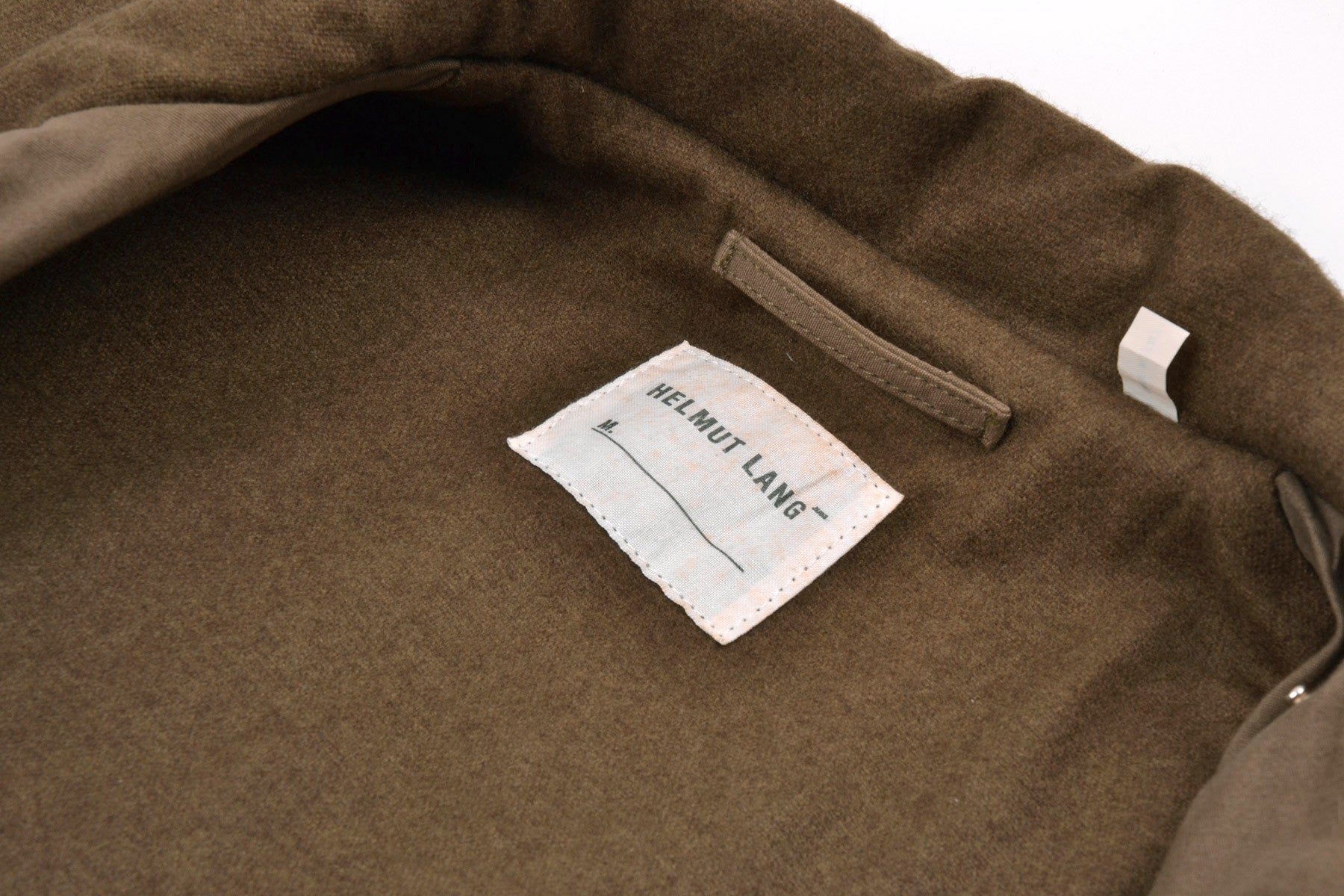 1999 A/W MILITARY GREEN PARKA WITH LODEN WOOL LINING AND LEATHER DETAILS