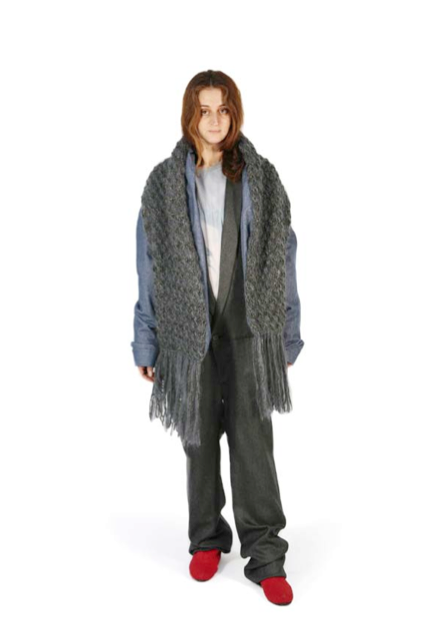 2008 A/W JEANS JACKET WITH ATTACHED OVERSIZED SCARF