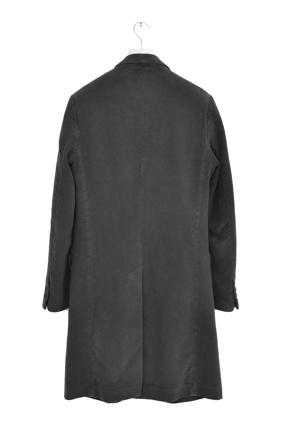 2005 A/W CHESTERFIELD COAT IN GRAY MOLESKIN COTTON