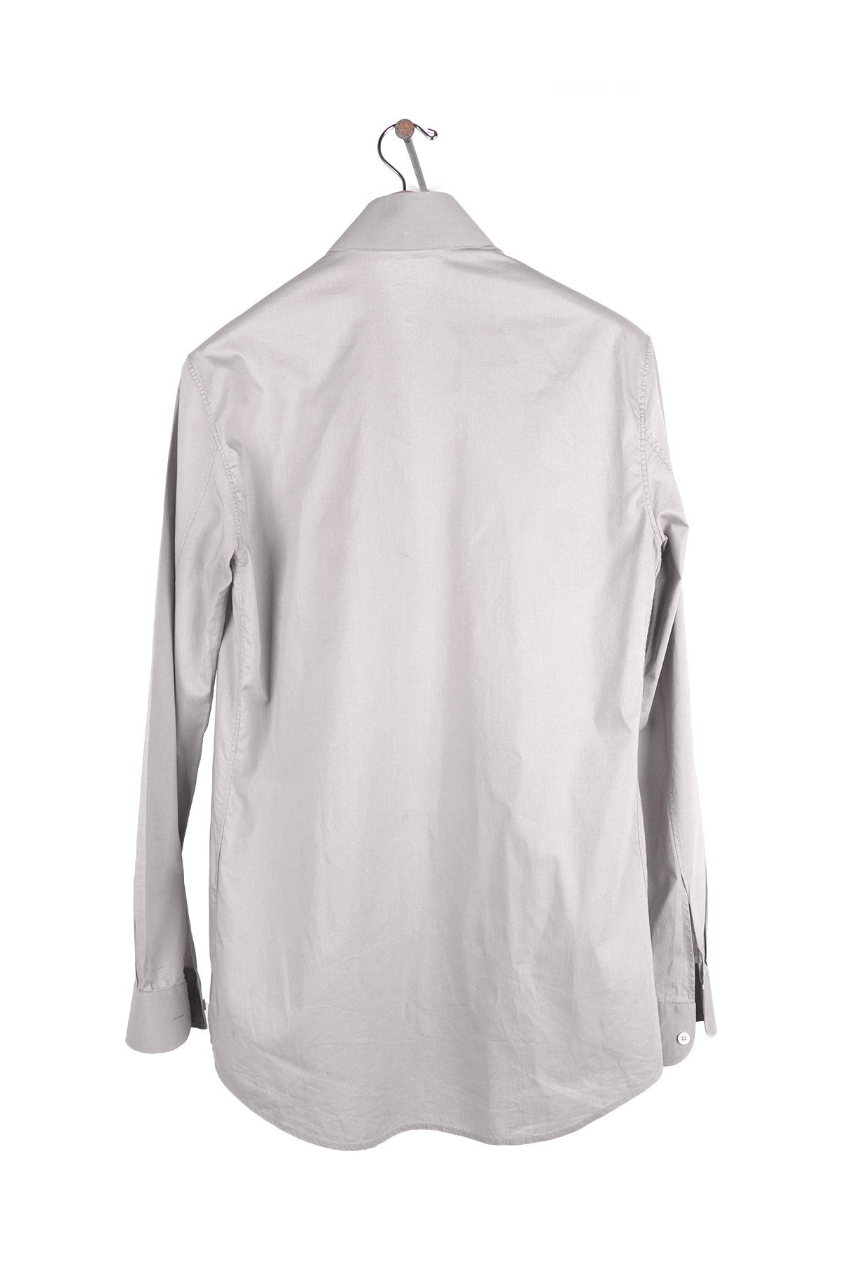 2002 S/S COTTON LONG-SLEEVE SHIRT WITH BOMBER STYLE DETACHABLE COLLAR