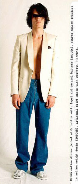 2009 S/S ANATOMICAL LINEN BLAZER WITH CONTRASTING SILK LAPELS